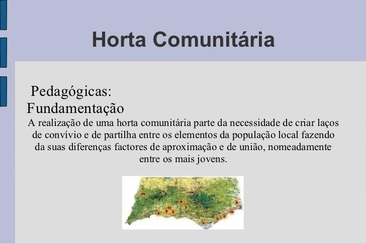Well-known Apresentação da horta comunitária EQ41