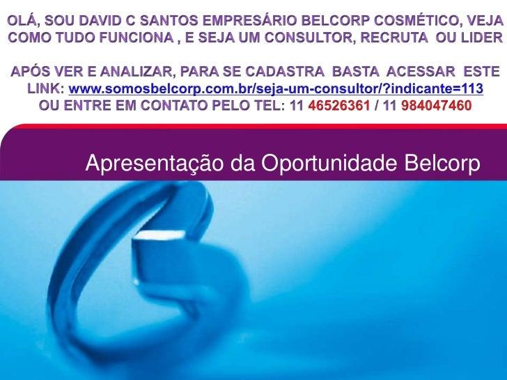 Apresentação da Oportunidade Belcorp