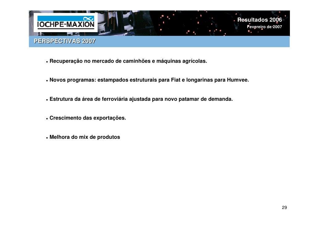 Resultados 2006                                                                                  Fevereiro de 2007   PERSP...
