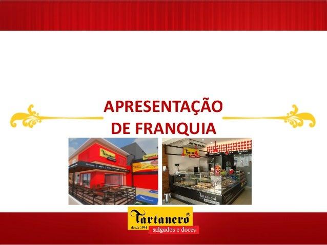 APRESENTAÇÃO DE FRANQUIA SUBTÍTULO