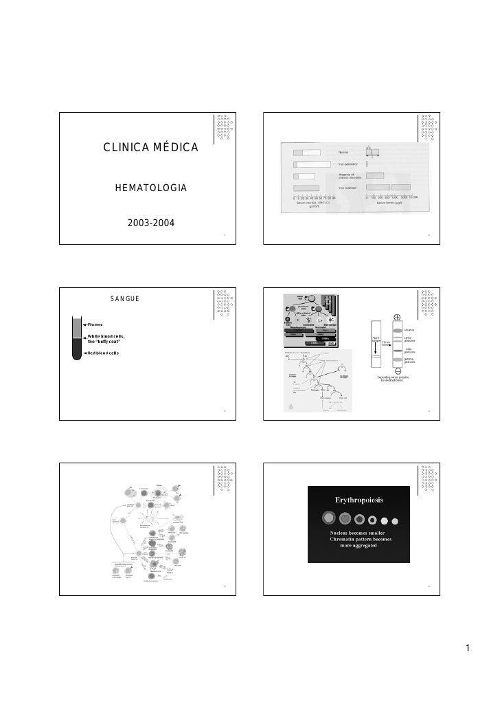 CLINICA MÉDICA    HEMATOLOGIA       2003-2004                  1   2      SANGUE                      3   4               ...