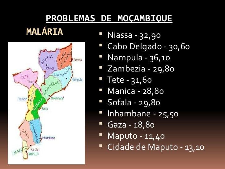 PROBLEMAS DE MOÇAMBIQUEMALÁRIA        Niassa - 32,90                 Cabo Delgado - 30,60                 Nampula - 36,...