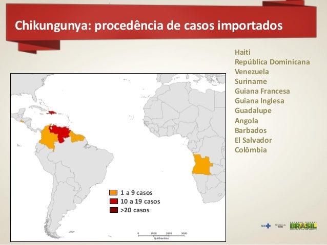Chikungunya: situação epidemiológica  Oiapoque  Riachão do Jacuípe  Feira de Santana  Matozinhos  Campo Grande  Oiapoque (...