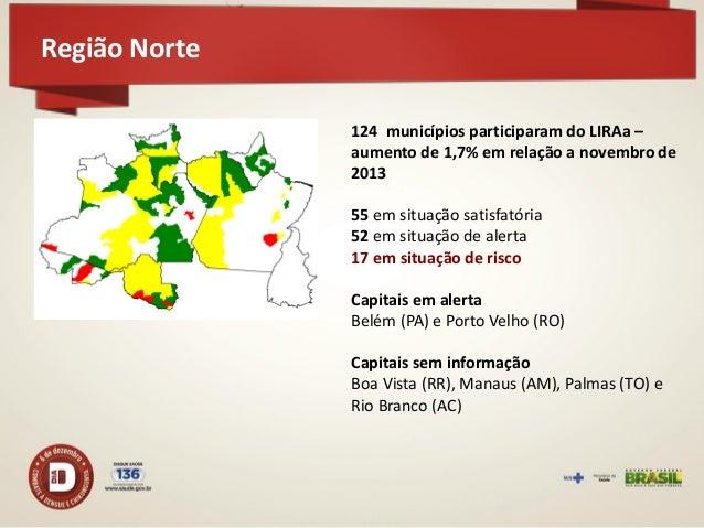 Região Norte  Armaz. Água Depósito  Domiciliar  Lixo  37,5  27,1  35,4  25,4  28  46,6  Novembro 2013 Novembro 2014  Depós...