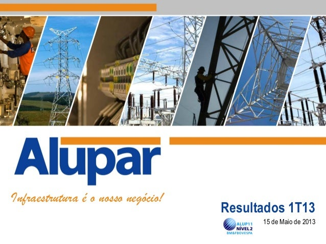 15 de Maio de 2013 Infraestrutura é o nosso negócio! Resultados 1T13