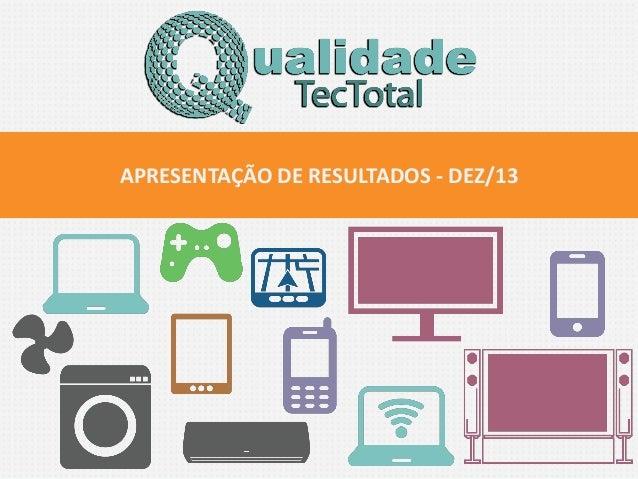 APRESENTAÇÃO DE RESULTADOS - DEZ/13