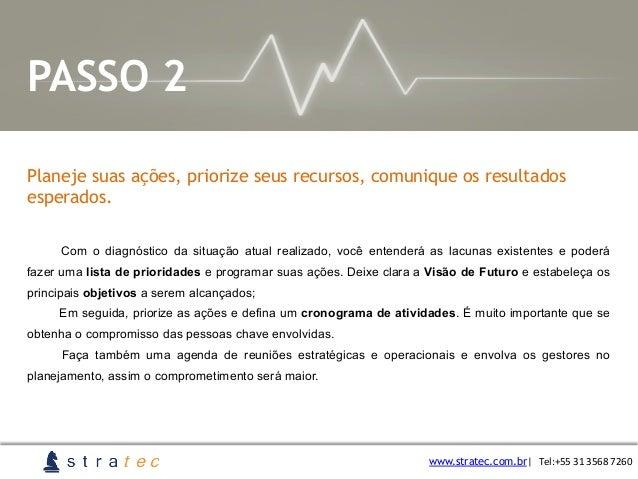 Planeje suas ações, priorize seus recursos, comunique os resultados esperados. www.stratec.com.br  Tel:+55  31  3568 ...