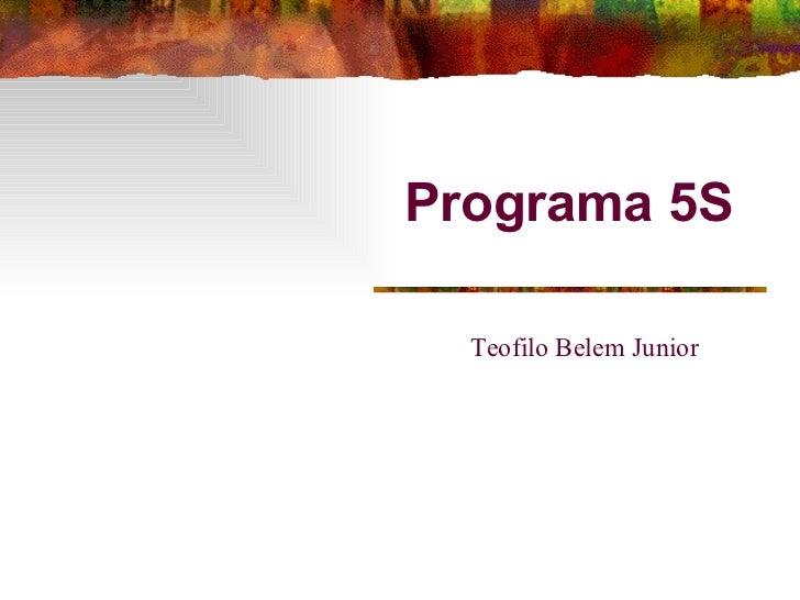 Programa 5S Teofilo Belem Junior
