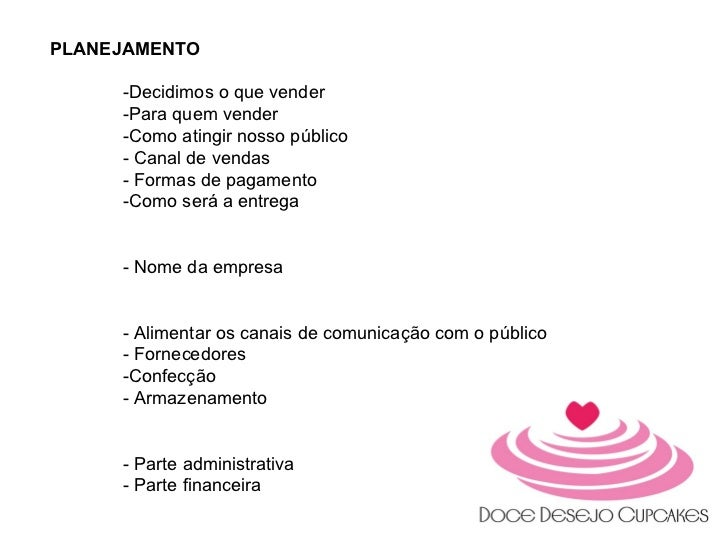Apresentação Doce Desejo Cupacakes - MBA Marketing Digital Faculade IDEZ Slide 2