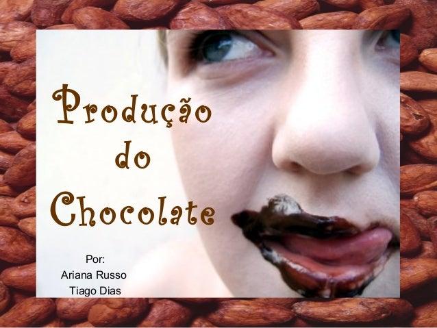 Produção do Chocolate Por: Ariana Russo Tiago Dias