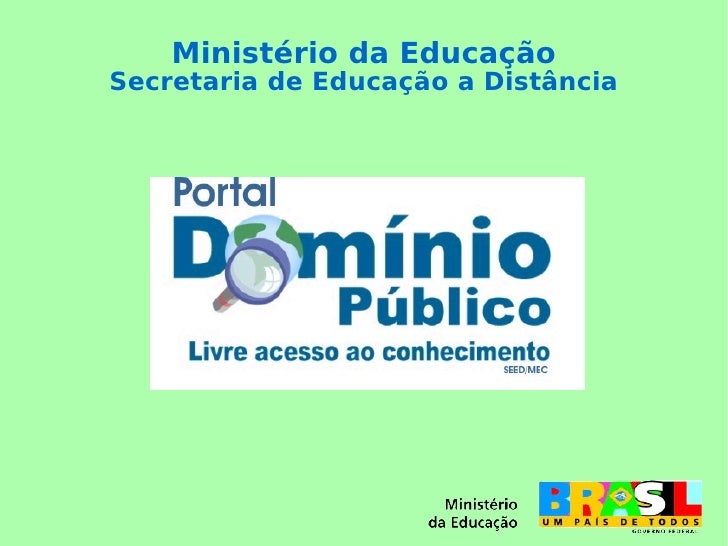 Ministério da Educação Secretaria de Educação a Distância