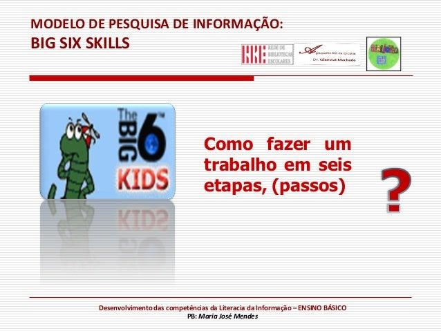 MODELO DE PESQUISA DE INFORMAÇÃO:BIG SIX SKILLS                                        Como fazer um                      ...