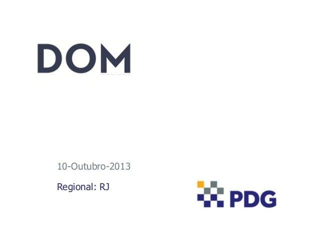 10-Outubro-2013 Regional: RJ
