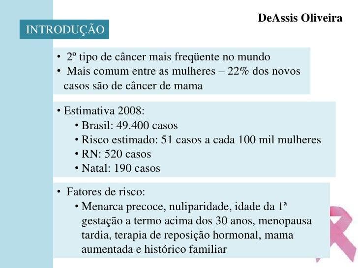 ApresentaçãO Do SemináRio Sobre CâNcer De Mama Slide 2