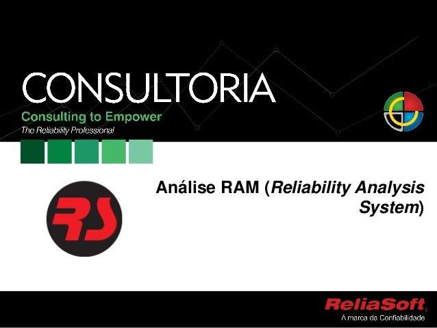 Análise RAM (Reliability AnalysisSystem)