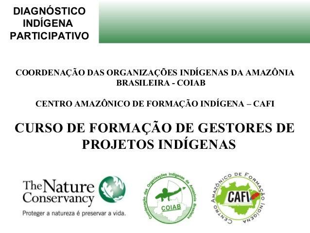 DIAGNÓSTICO INDÍGENA PARTICIPATIVO COORDENAÇÃO DAS ORGANIZAÇÕES INDÍGENAS DA AMAZÔNIA BRASILEIRA - COIAB CENTRO AMAZÔNICO ...