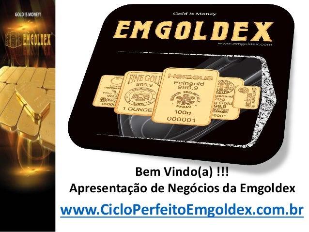 Bem Vindo(a) !!! Apresentação de Negócios da Emgoldex  www.CicloPerfeitoEmgoldex.com.br