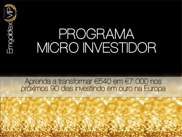 Apresentação Emgoldex VIP - www.emgoldexvip.com.br