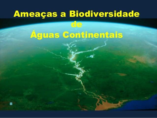 Ameaças a Biodiversidade          de  Águas Continentais