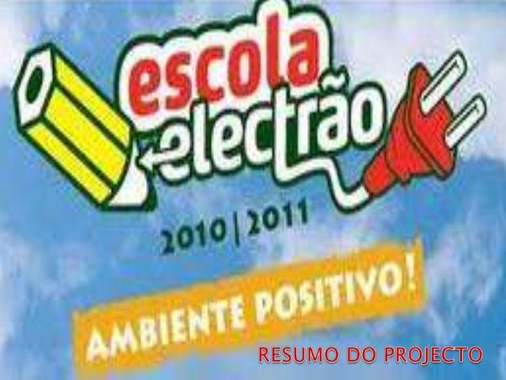 RESUMO DO PROJECTO<br />