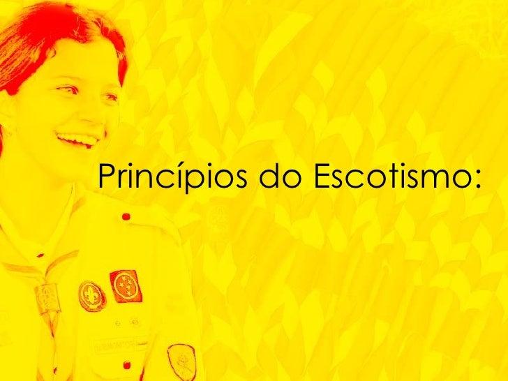 Princípios do Escotismo: