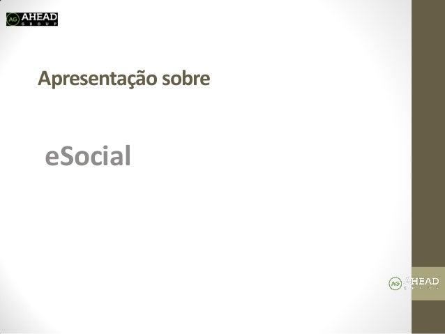 Apresentação sobre  eSocial