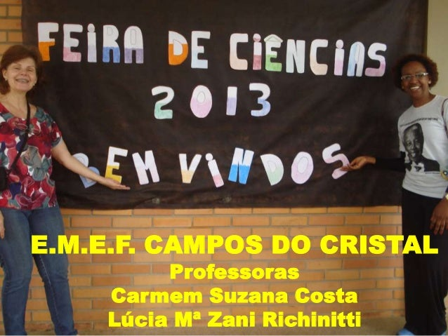E.M.E.F. CAMPOS DO CRISTAL Professoras Carmem Suzana Costa Lúcia Mª Zani Richinitti