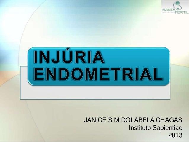 JANICE S M DOLABELA CHAGAS Instituto Sapientiae 2013