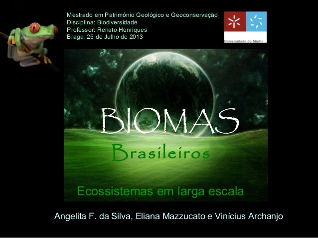 Mestrado em Património Geológico e Geoconservação Disciplina: Biodiversidade Professor: Renato Henriques Braga, 25 de Julh...