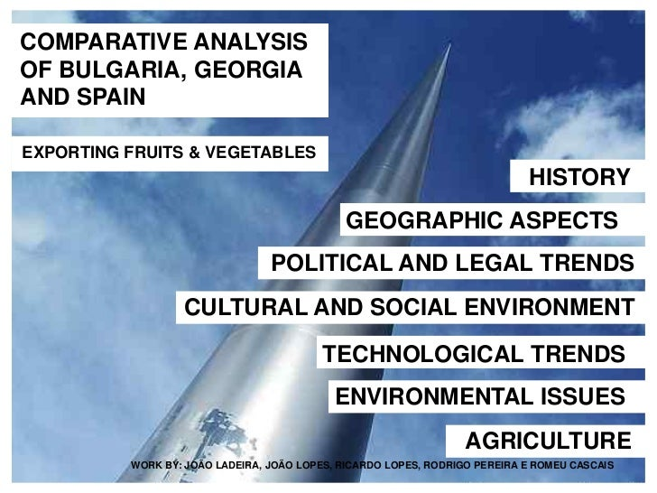 COMPARATIVE ANALYSISOF BULGARIA, GEORGIAAND SPAINEXPORTING FRUITS & VEGETABLES                                            ...