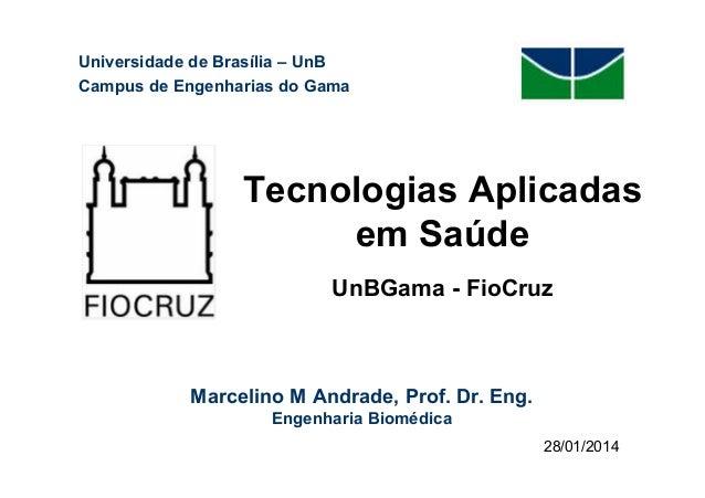 Universidade de Brasília – UnB Campus de Engenharias do Gama  Tecnologias Aplicadas em Saúde UnBGama - FioCruz  Marcelino ...