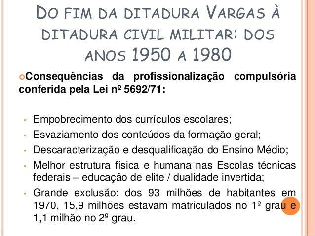 DA REDEMOCRATIZAÇÃO AO  PERÍODO ATUAL  • Constituição de 1988  • LDB 9394/96 – Ensino Médio ganha uma identidade  própria ...