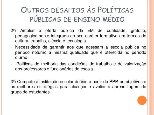 Proposta de atividade - Caderno 1  REFLEXÃO E AÇÃO  Nas DCNEM afirma-se que o Ensino Médio, em todas as suas formas de ofe...