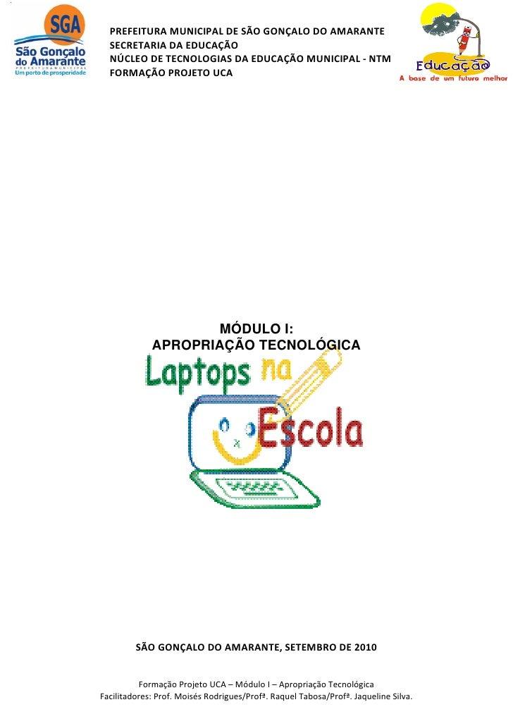PREFEITURA MUNICIPAL DE SÃO GONÇALO DO AMARANTE   SECRETARIA DA EDUCAÇÃO   NÚCLEO DE TECNOLOGIAS DA EDUCAÇÃO MUNICIPAL - N...