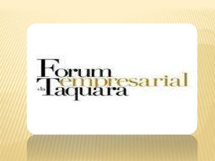 Apresentação forum taquara