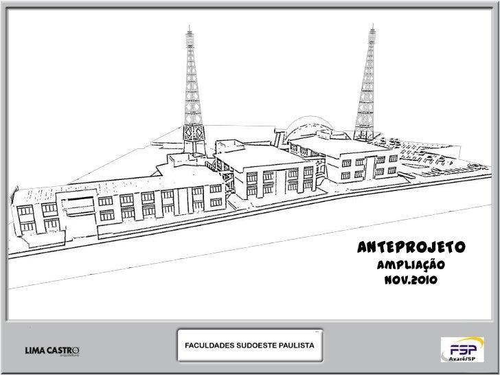 ANTEPROJETO  Ampliação   NOV.2010