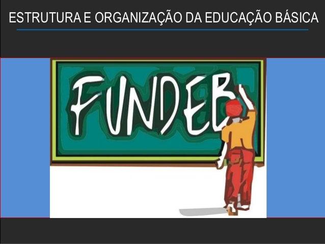ESTRUTURA E ORGANIZAÇÃO DA EDUCAÇÃO BÁSICA