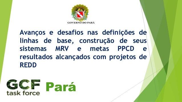 Avanços e desafios nas definições de linhas de base, construção de seus sistemas MRV e metas PPCD e resultados alcançados ...