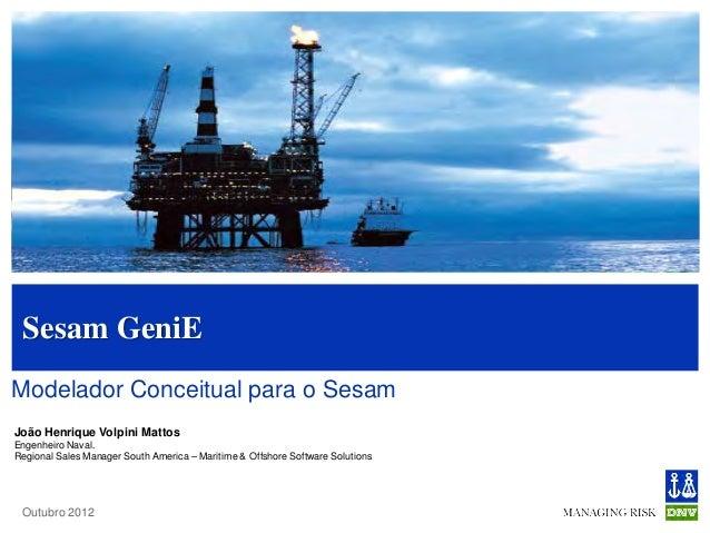 Modelling and Analysis Sesam GeniEModelador Conceitual para o SesamJoão Henrique Volpini MattosEngenheiro Naval.Regional S...