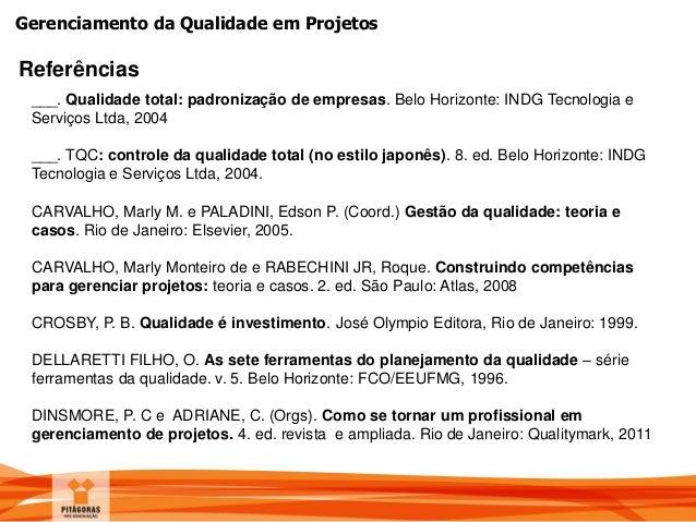 Gest 227 O Da Qualidade Em Projetos border=