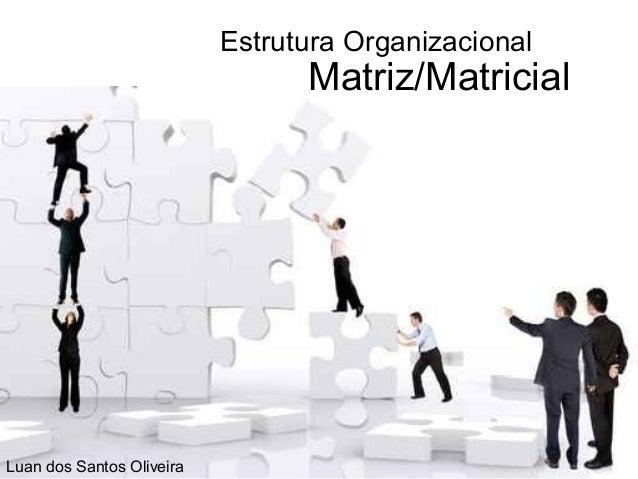Estrutura Organizacional                                 Matriz/MatricialLuan dos Santos Oliveira
