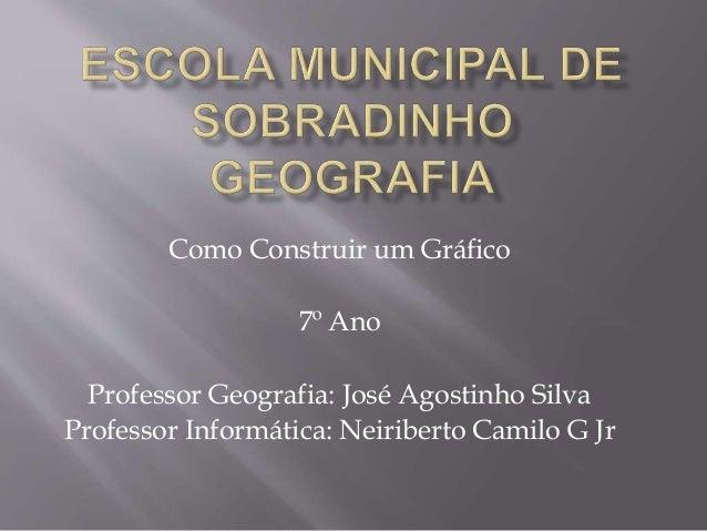 Como Construir um Gráfico 7º Ano Professor Geografia: José Agostinho Silva Professor Informática: Neiriberto Camilo G Jr