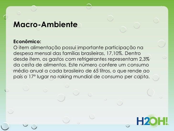 Macro-AmbienteEconômico:O item alimentação possui importante participação nadespesa mensal das famílias brasileiras, 17,10...