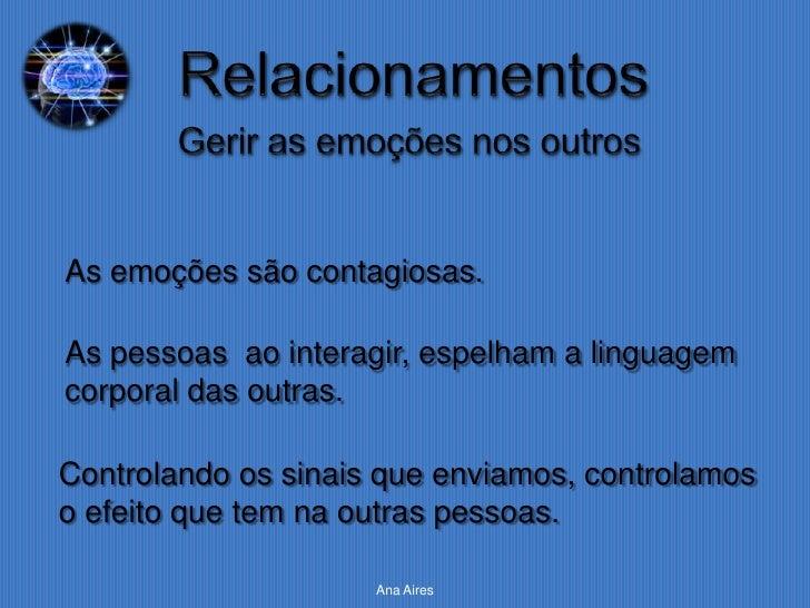 As emoções são contagiosas.As pessoas ao interagir, espelham a linguagemcorporal das outras.Controlando os sinais que envi...
