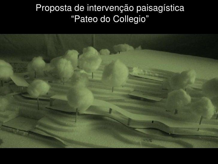 """Proposta de intervenção paisagística        """"Pateo do Collegio"""""""