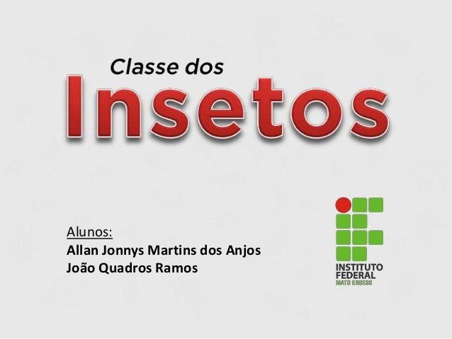 Alunos: Allan Jonnys Martins dos Anjos João Quadros Ramos