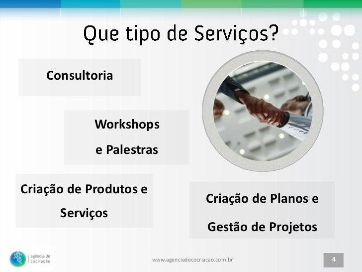 Consultoria            Workshops            e PalestrasCriação de Produtos e                                           Cri...