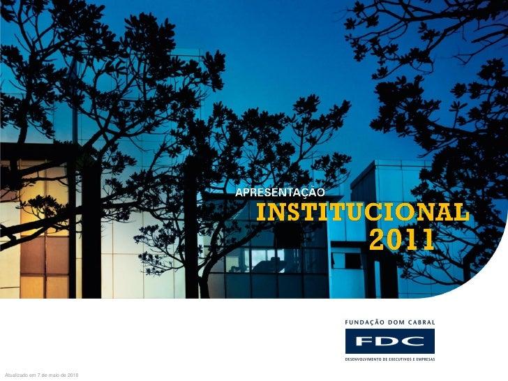 FUNDAÇÃO DOM CABRALAtualizado em 7 de maio de 2010
