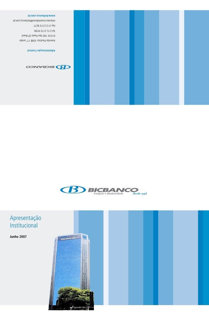 Apresentação Institucional Junho 2007