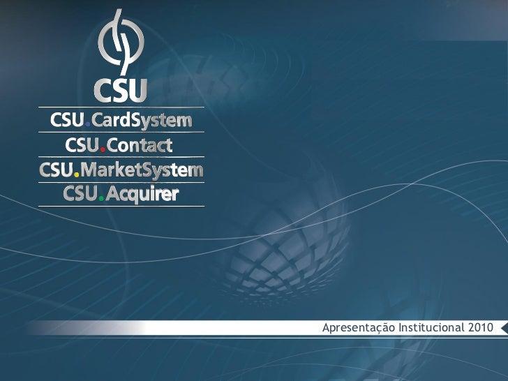 Apresentação Institucional 2010